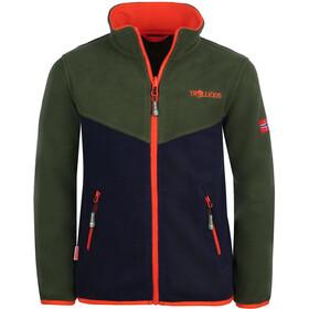 TROLLKIDS Oppdal XT Jacket Kids forest green/navy/flame orange